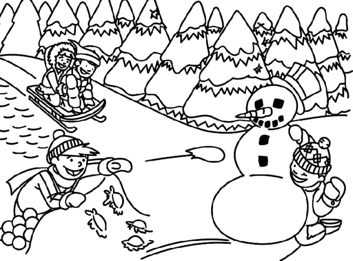 Winter Coloring Pages For Kids Unique Of Free Printable ...