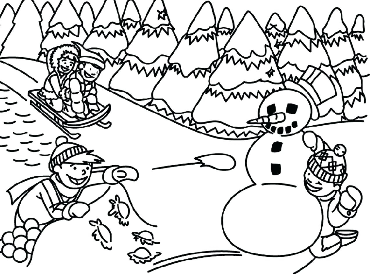 picture relating to Free Printable Winter Coloring Pages titled Artistic Photograph of Winter season Coloring Internet pages For Children -