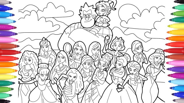 Wreck It Ralph Coloring Pages Ralph Breaks The Internet Wreck It Ralph 2 Coloring Pages For Kids