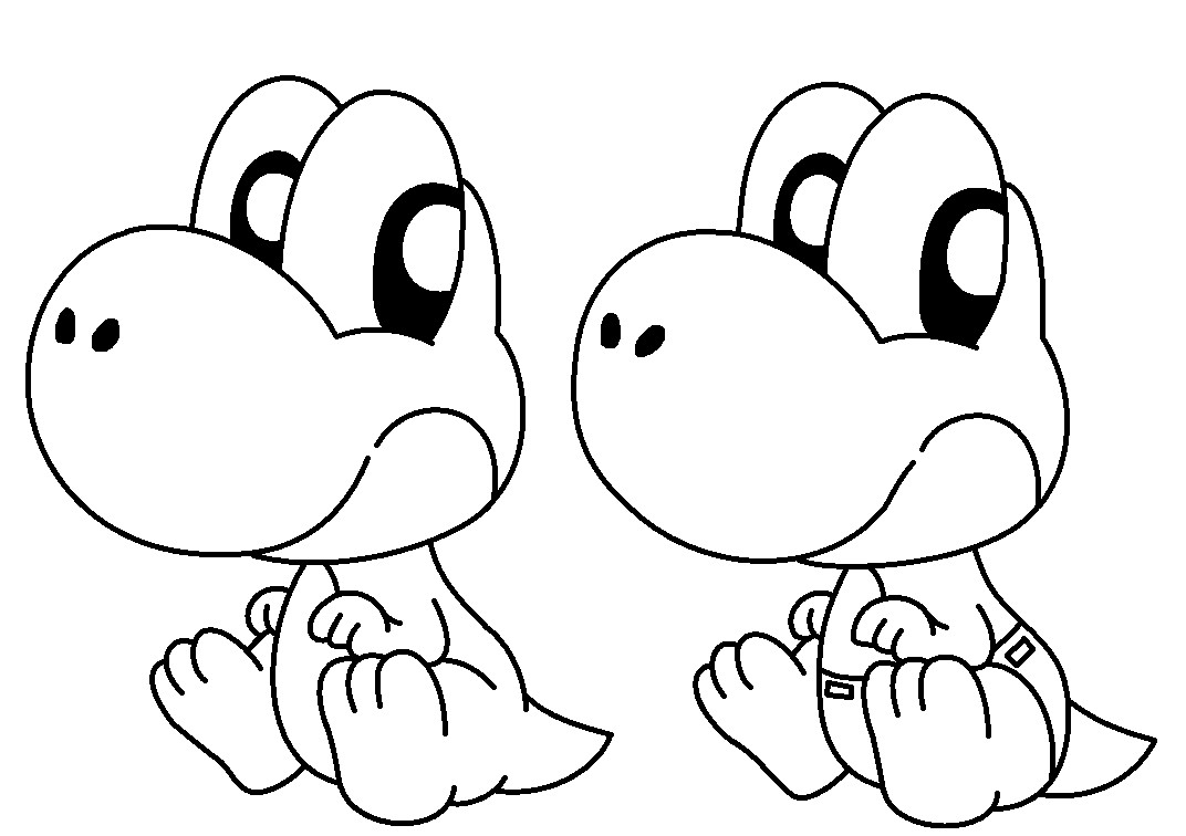 Yoshi Coloring Pages Mario Yoshi Coloring Pages At Getdrawings