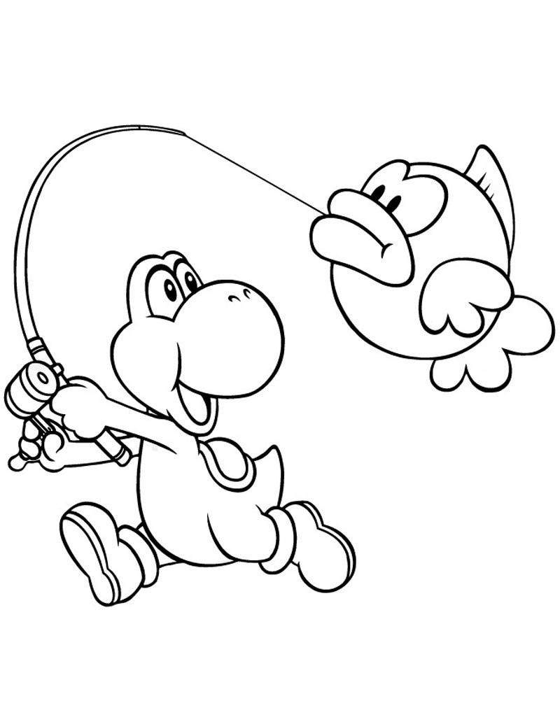 Yoshi Coloring Pages Printable Yoshi Coloring Pages Linear Super Coloring Page