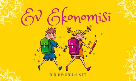 Ev Ekonomisi Ders – 1