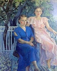 Balkonda Oturan Kadınlar