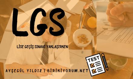 LGS Lise Geçiş Sınavı Yaklaşırken