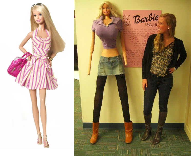 Barbie's Proportions in Real Life