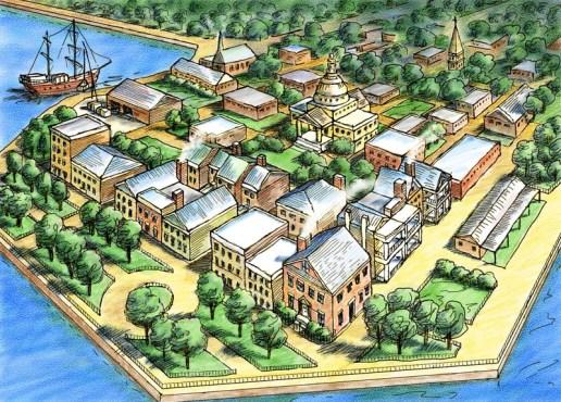 Charleston, S.C. - Aerial View Map