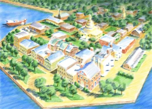 Charleston, S.C. - Watercolor layer