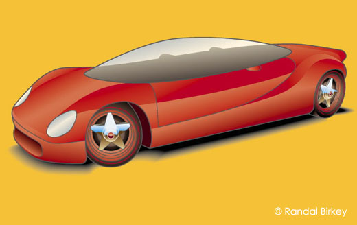 Concept Car - Automotive Illustration