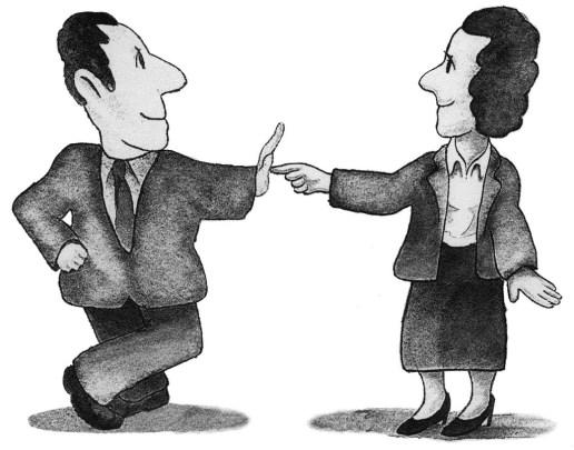 Cartoon Man and Woman watercolor