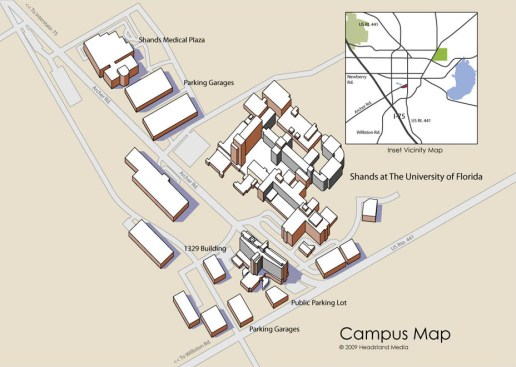 Shands Healthcare Campus Map