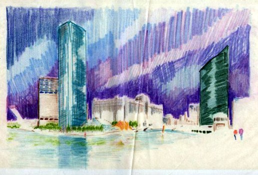 Wolf Point Concept Sketch