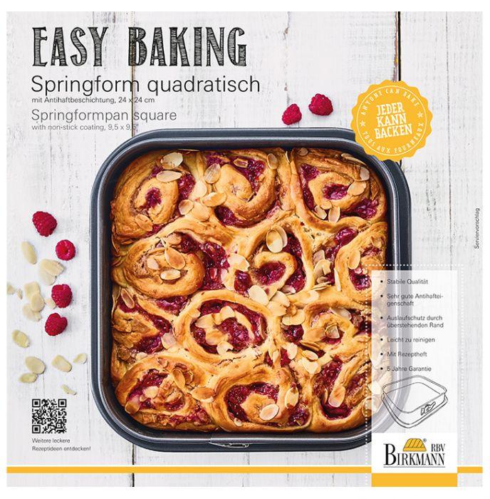 springform quadratisch 24 x 24 cm easy baking