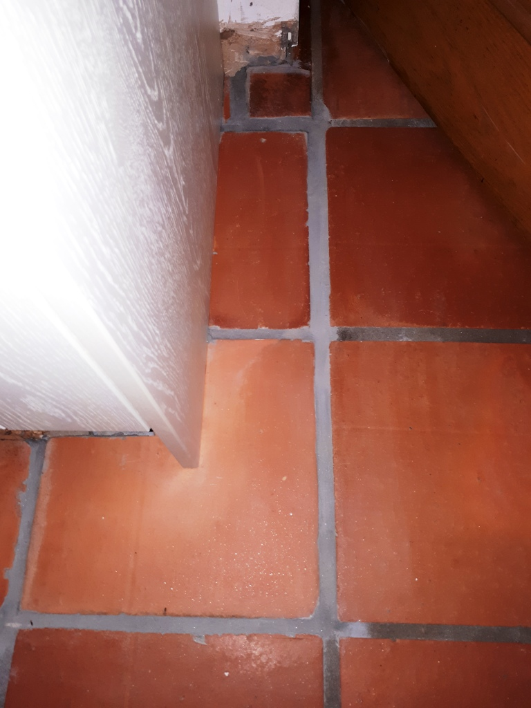 Mexican Terracotta Tiles After Grout Cleaning Redditch