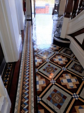 Victorian Tiled Hallway Tipton After Restoration