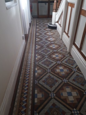Victorian Tiled Hallway Tipton Before Restoration