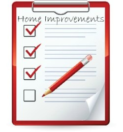 List of home improvements