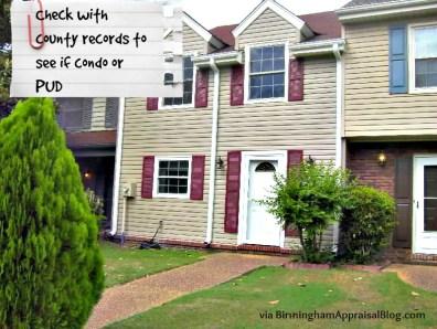 townhouse or condo