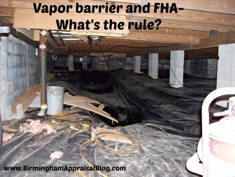 vapor barrier and fha
