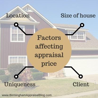 Factors affecting appraisal price