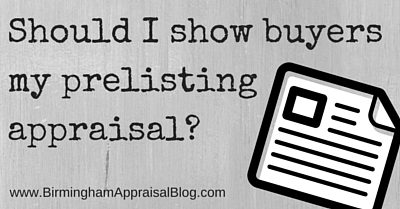 prelisting appraisal