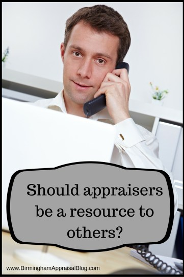 Should appraisers be a resource to others