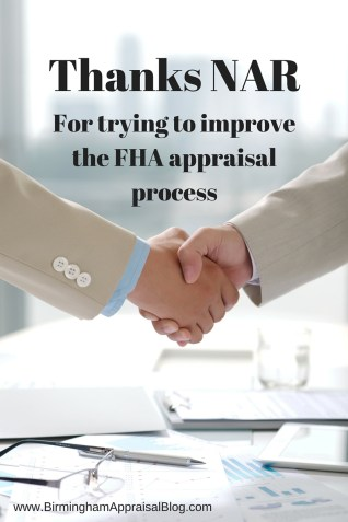 NAR and FHA appraisals