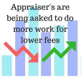 Appraiser fees dropping and work increasing