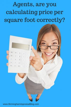 Agents calculate price per square foot correctly