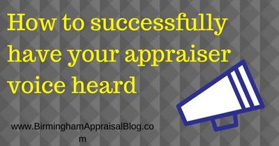 have your appraiser voice heard