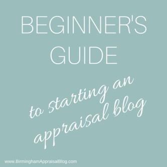 starting an appraisal blog