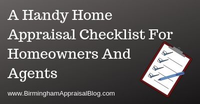 Home Appraisal Checklist For Homeowners And Agents