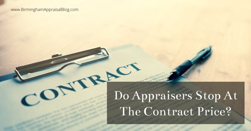 Do Appraisers Stop At Contract Price