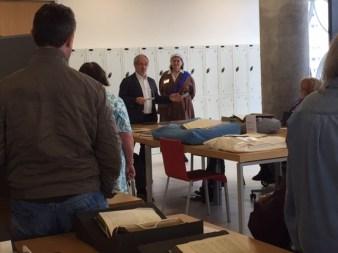 Prof Ian Grosvenor opening pop-up exhibition