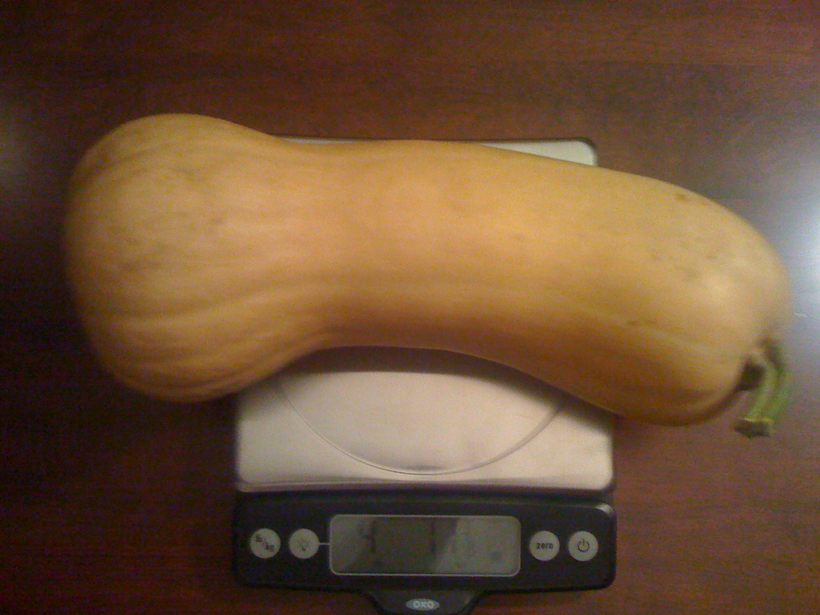 Weighing Butternut Squash