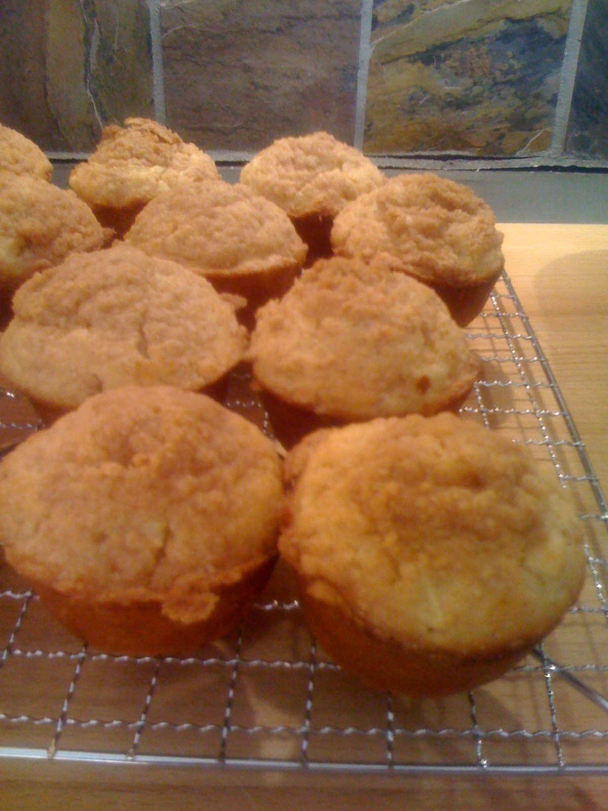 Apple Streusel Muffins Cooling