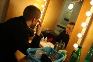 Jack Jones gets into makeup