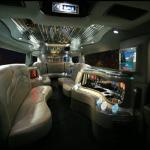Black Hummer Limo Hire interior