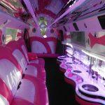 Pink hummer limo hire Birmingham interior