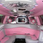 pink limo hire interior