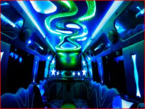 Party Bus Limos in Birmingham interior