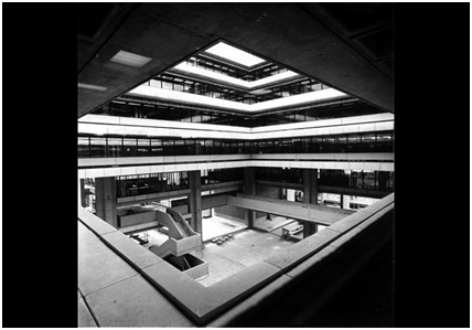 Interior of Birmingham Central Library - cira 1973