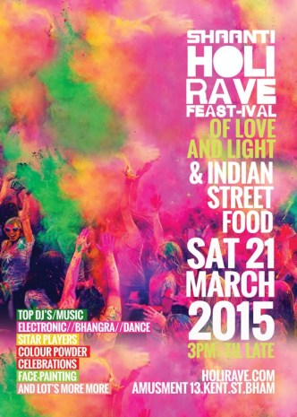 Shaanti Holi Rave - Artwork