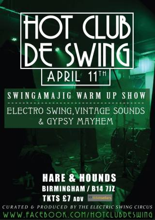 Hot Club De Swing @ Hare & Hounds - 11th April