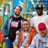 Scratch Club @ City of Colours 2016 (l-r Tony Culverwell, Tom Dunstan, Superbamz, Redbead) / By Michelle Martin