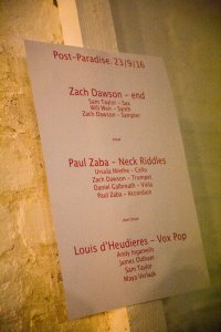 Post Paradise – feat. Zach Dawson, Paul Zaba, Louis D'Heudieres @ Centrala (Minerva Works) 23.09.16 / Pics by Michelle Martin © Birmingham Review