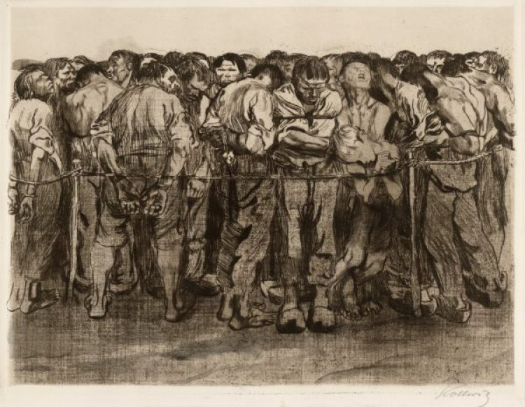 The Prisoners (1908, Peasants' War - plate 7) / Käthe Kollwitz
