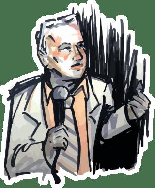 Doug Stanhope / Illustration by Emily Doyle