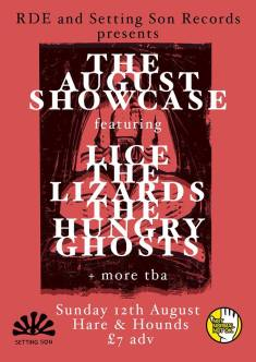 BPREVIEW: The August Showcase with Lice, The Lizards, The Hungry Ghosts, Whitelight @ Hare & Hounds 12.08.18