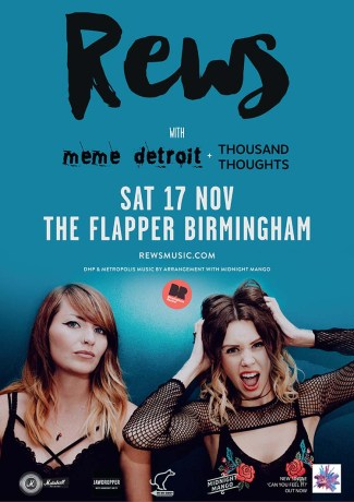 BPREVIEW: Rews + MeMe Detroit, Thousand Thoughts @ The Flapper 17.11.18