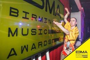 Jack Parker at the Birmingham Music Awards 2018